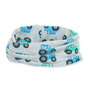 Sterntaler magický šátek šedý bavlna UV 50+ traktory 1522058