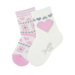Sterntaler ponožky zimní 2páry merino dívčí krémové 8502021