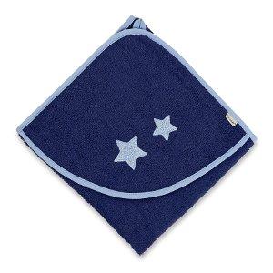 Sterntaler osuška s kapucí 80x80 cm hvězdy 7101678