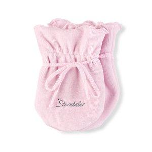 Sterntaler Rukavičky samet jednobarevné, růžové 4001485