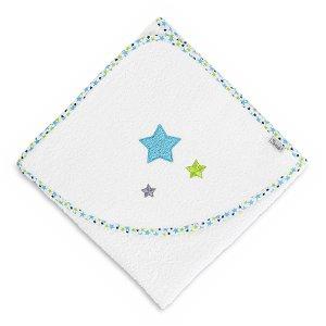 Sterntaler osuška s kapucí 100x100 bílá, hvězdičky 7121771