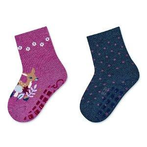 Sterntaler ponožky protiskluzové ABS 2 páry srnka, červené 8102123