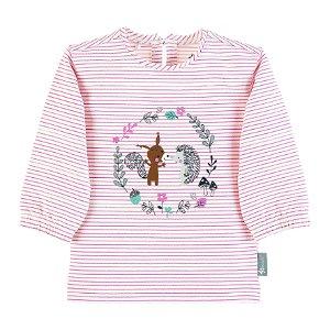 Sterntaler tričko s dl.rukávem dívčí proužky ježek 5662001
