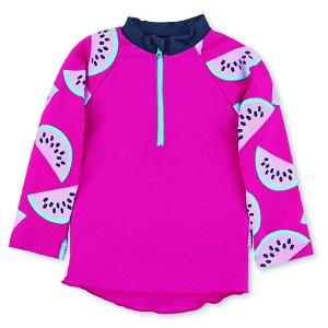 Sterntaler plavky tričko dlouhý rukáv dívčí UV 50+ růžové meloun 2502163