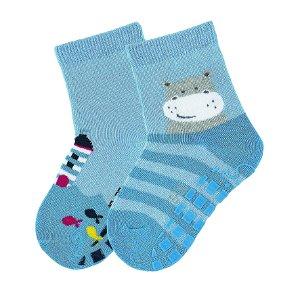 Sterntaler ponožky protiskluzové ABS chlapecké 2 páry modré maják 8002021