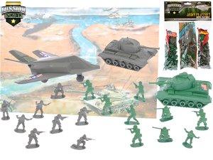 Sada vojáci mini s doplňky 2druhy v sáčku Rock David