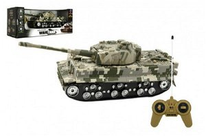 Teddies Tank RC T-80 plast 25cm s dobíjecím packem+adaptér na baterie asst 2 druhy v krabici