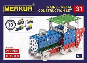 Merkur Stavebnice Merkur - M 031 Železniční modely - 211 ks