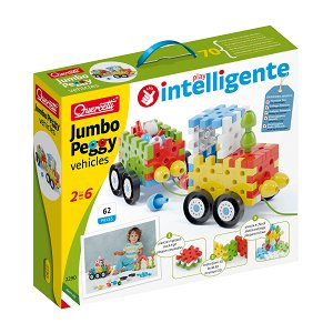 Quercetti Jumbo Peggy Vehicles – stavebnice pro nejmenší