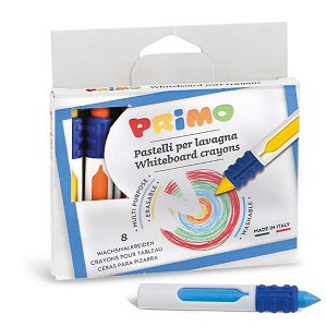PRIMO Voskové, suché pastelky na hladké povrchy - 8 barev
