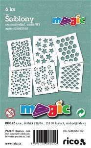 PRIMO MAGIC Papírové šablony - sada W1- STRUKTURY