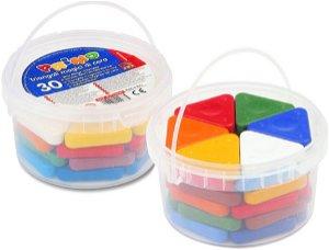 PRIMO Sada voskových pastelek BASIC MAGIC - 30 ks (10 barev x 3 ks)