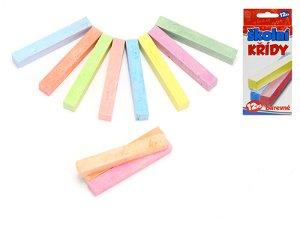 Mikro trading Křídy školní barevné - 12 ks