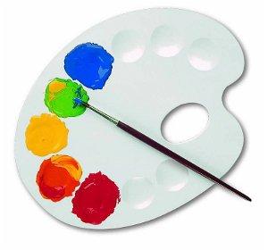 Paleta malířská STANDART 22cm, plastová