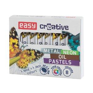 Easy NEON/METAL Olejové pastely - 8 barev