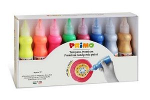 PRIMO Temperové 3D barvy FLUO+METAL - sada 8 x 50 ml