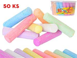 Mikro trading Křídy na chodník barevné - 50 ks