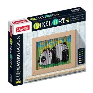 Quercetti Pixel Art 4 Kawaii Panda – mozaika z kolíčků