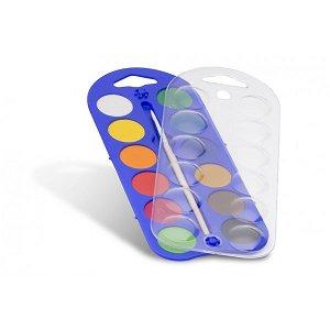 PRIMO Vodové barvy - 12 barev a štětec
