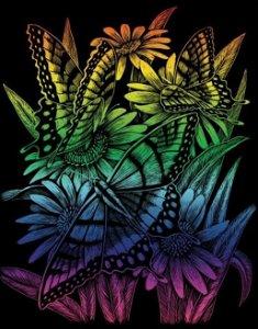 ROYAL & LANGNICKEL Duhový škrabací obrázek Motýli