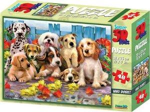 PRIME 3D Puzzle Pejsci 3D 48 dílků